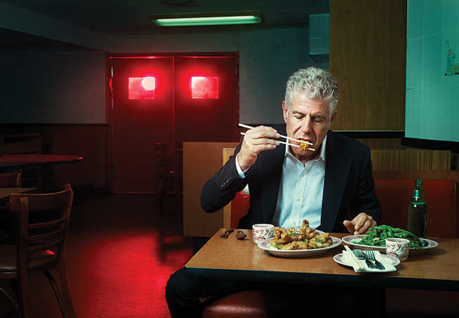 TV Cook and Food Writer Anthony Bourdain, image: Robert Ascroft for Adweek