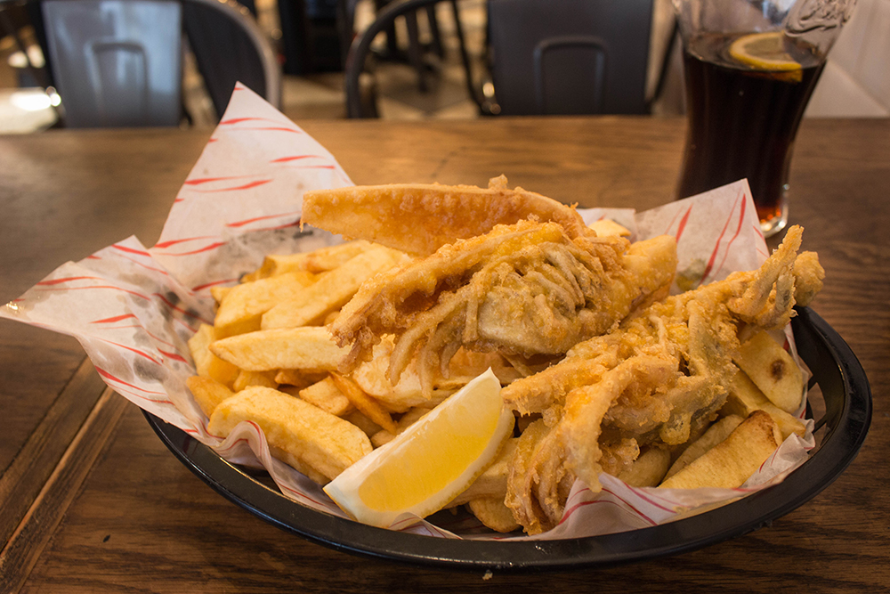 Vegan Fish and Chips from Sutton & Sons (London, UK)